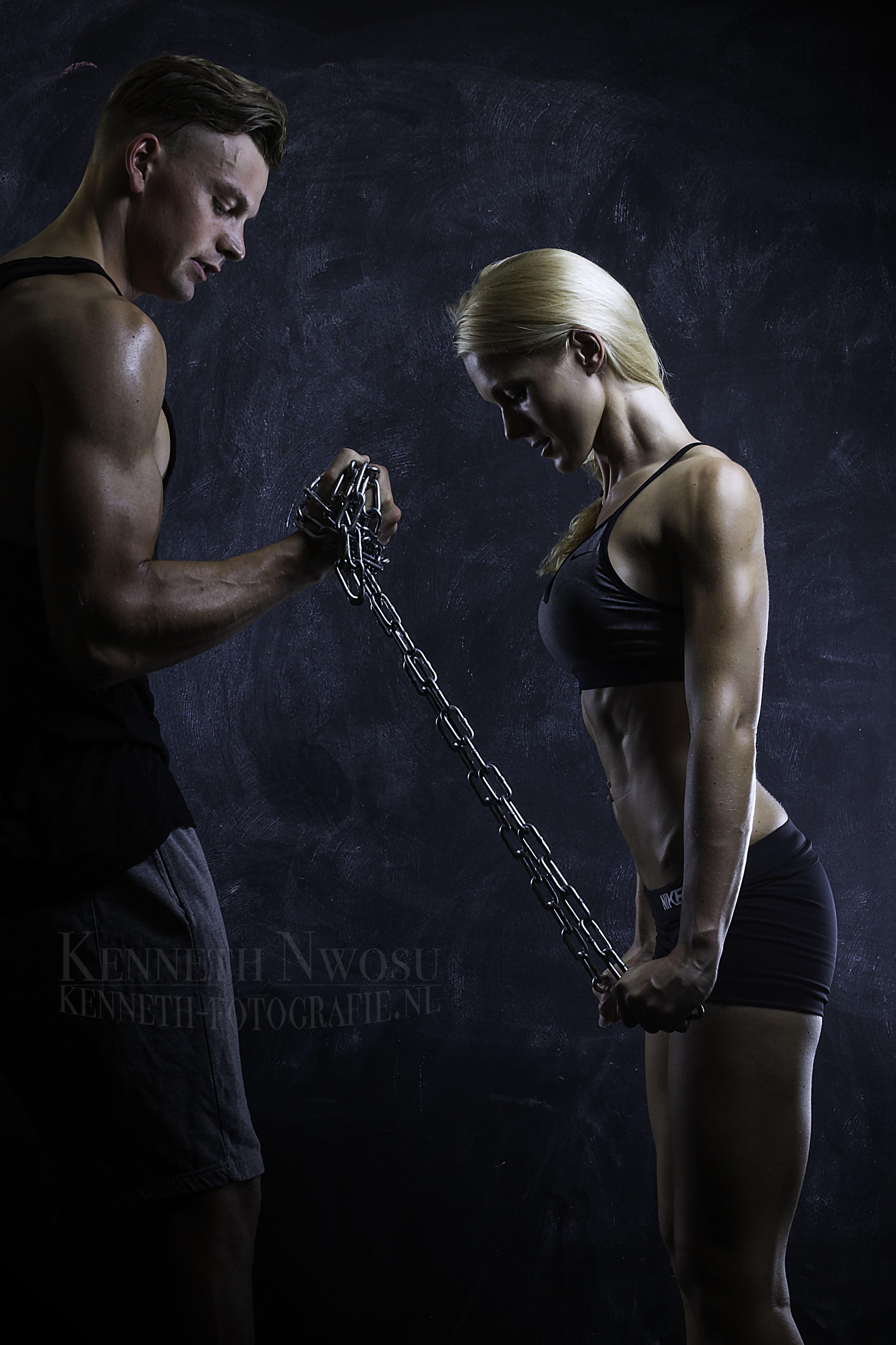 Jonas en Heidi (fitness fotografie)