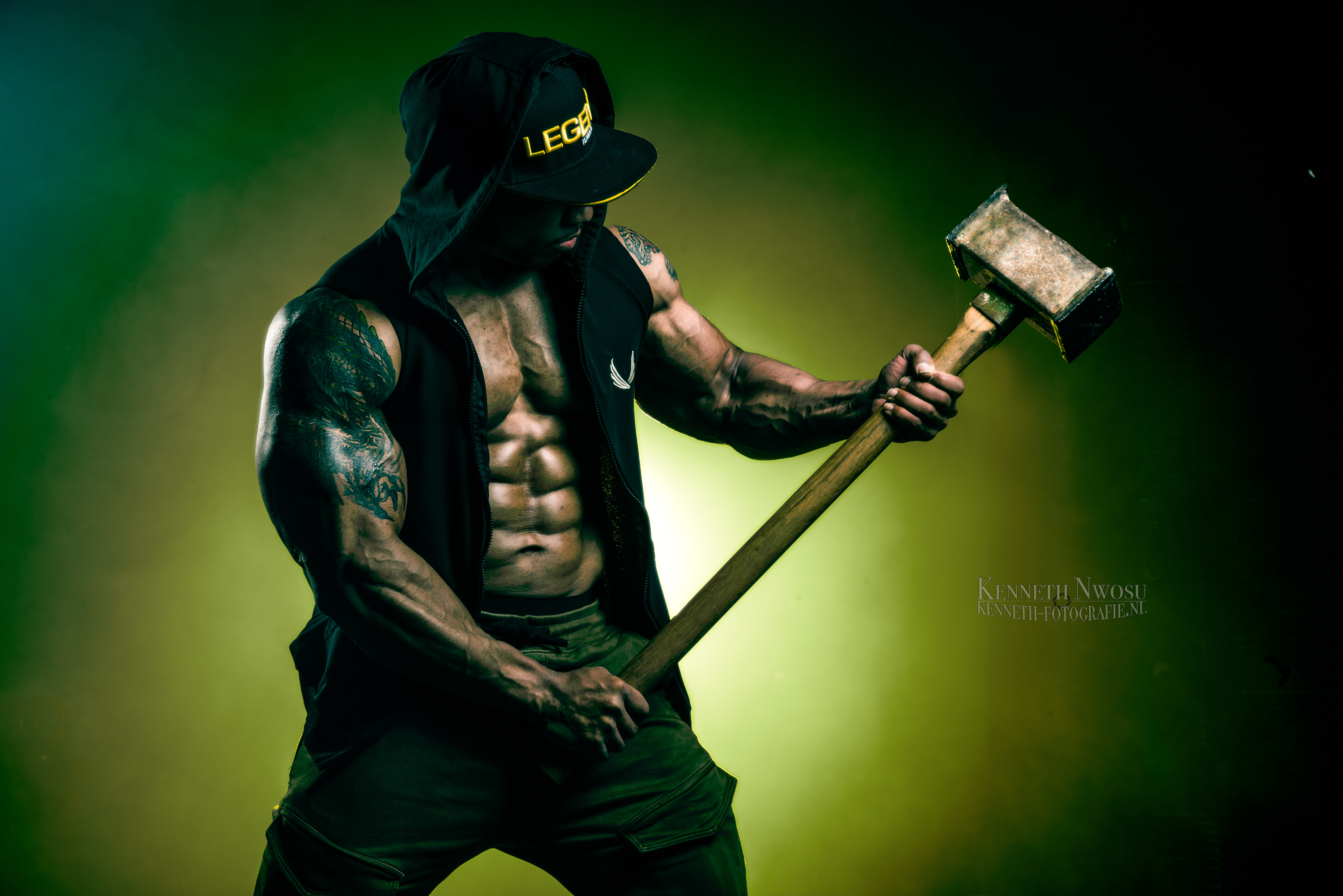 Gregory Melfor bodybuilding fotoshoot