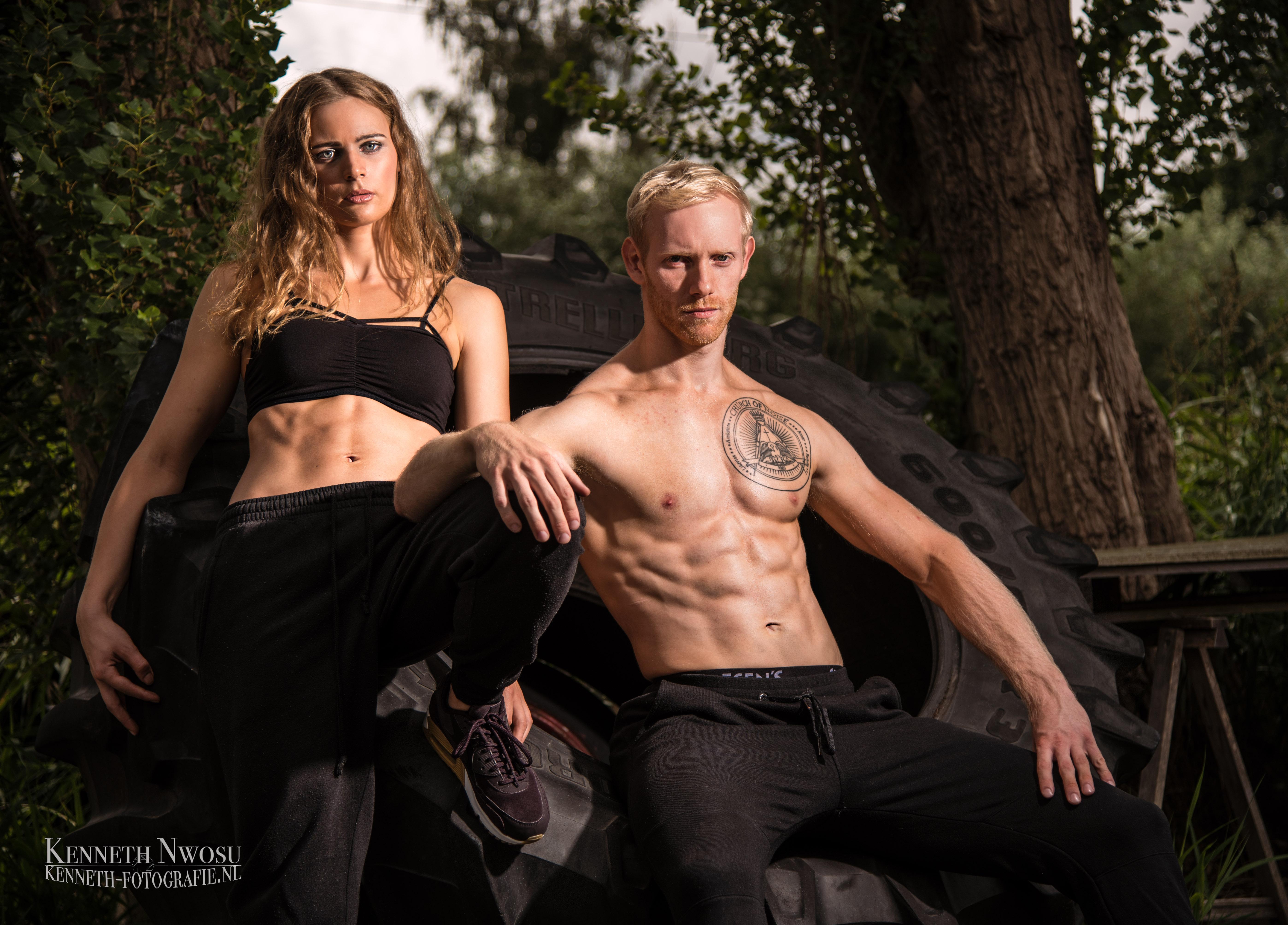 Fitness fotoshoot met Igor en Lisa