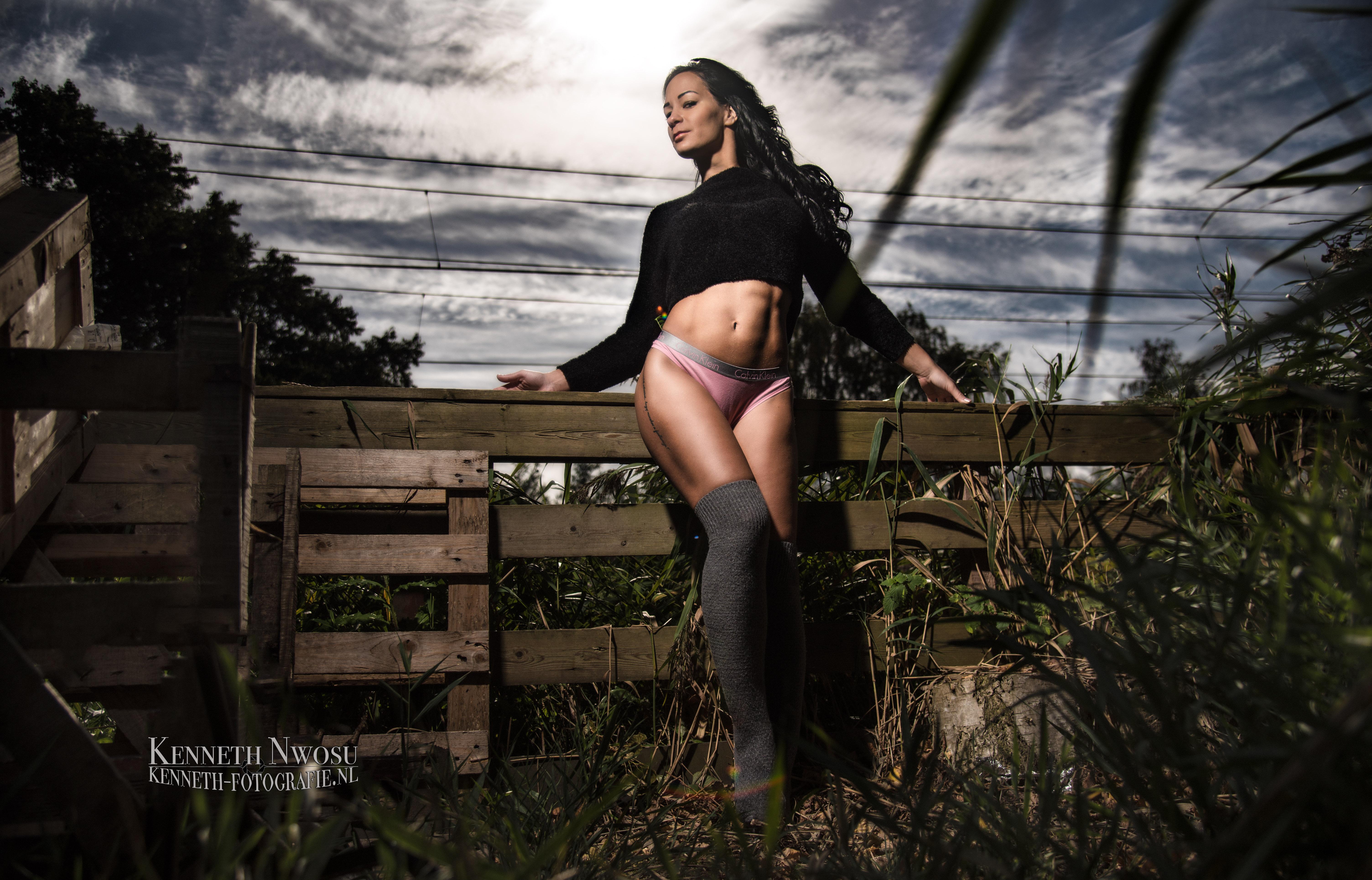 Fitness en fashion fotoshoot met Berzi