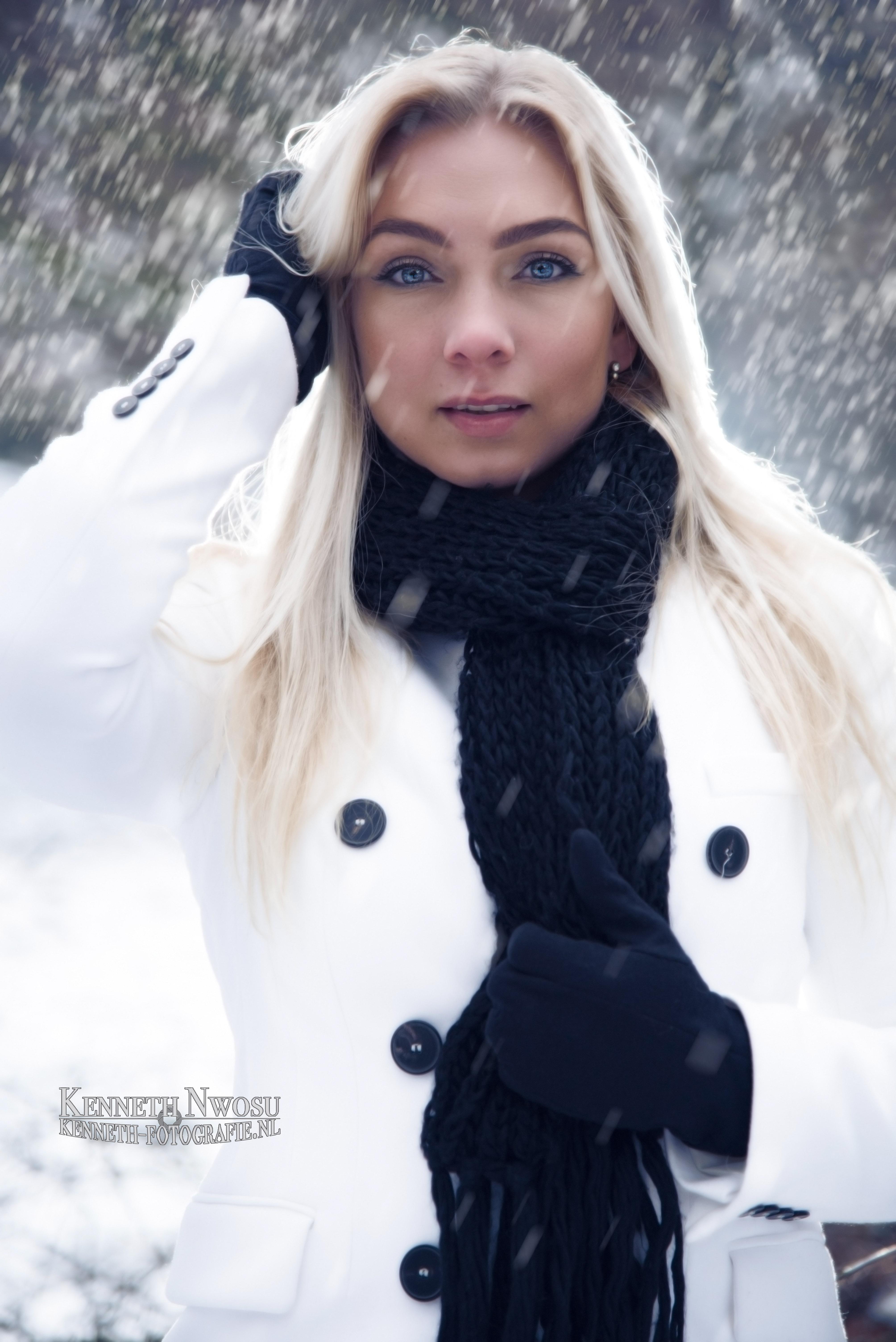 Sneeuw fotoshoot met Melissa