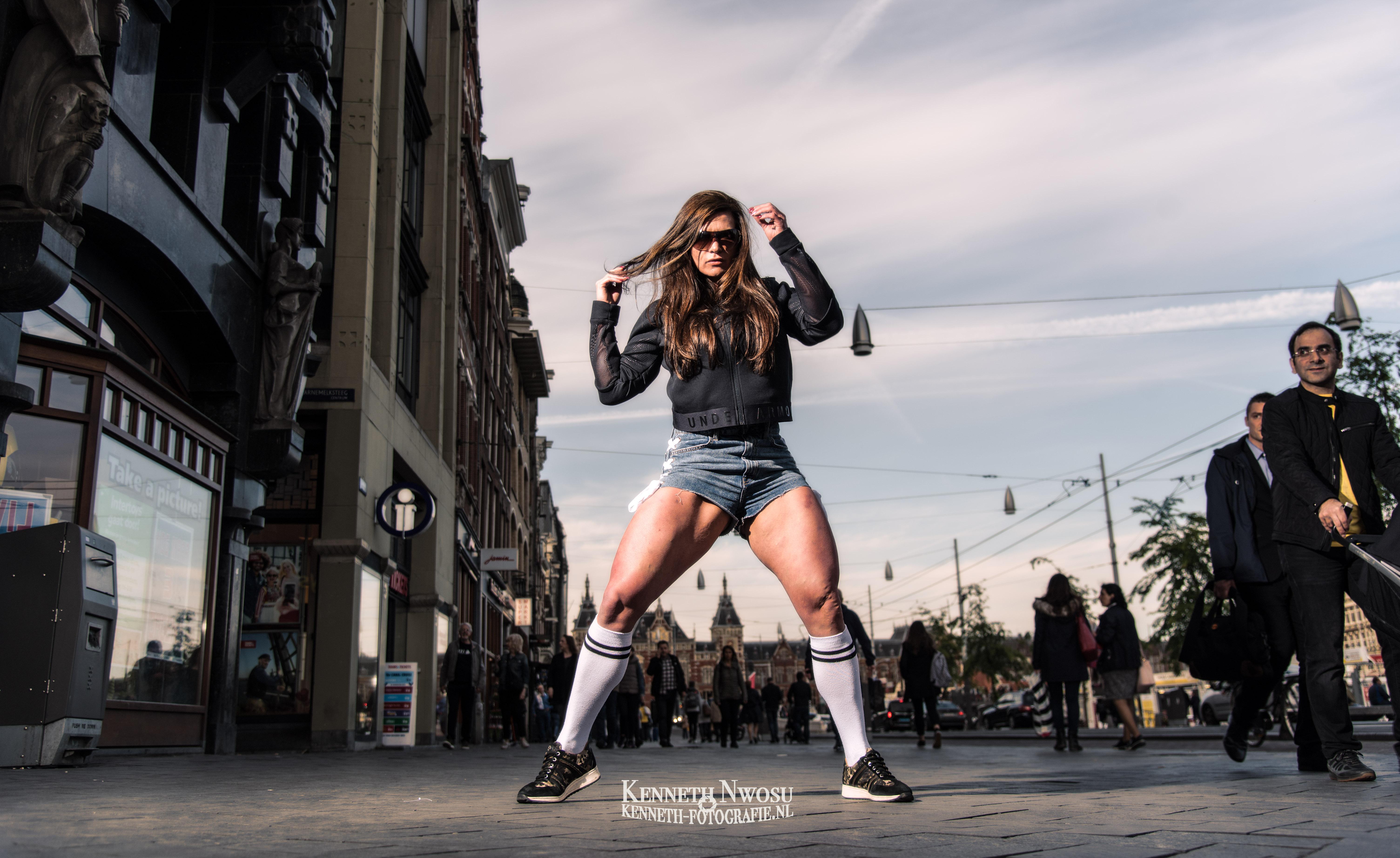 City fitness photoshoot met Caroline Sakkers