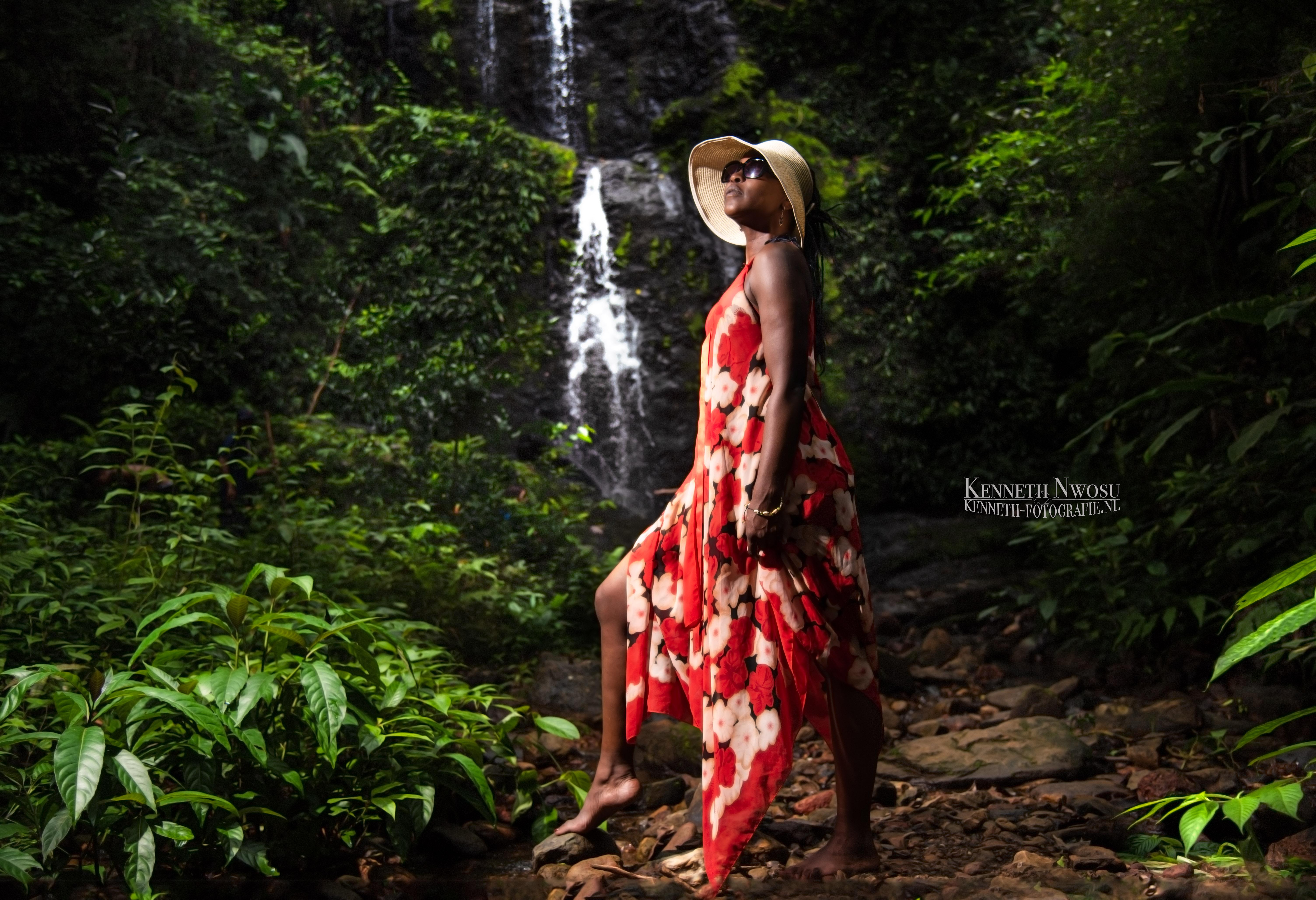 Waterval fotoshoot Brownsberg Suriname