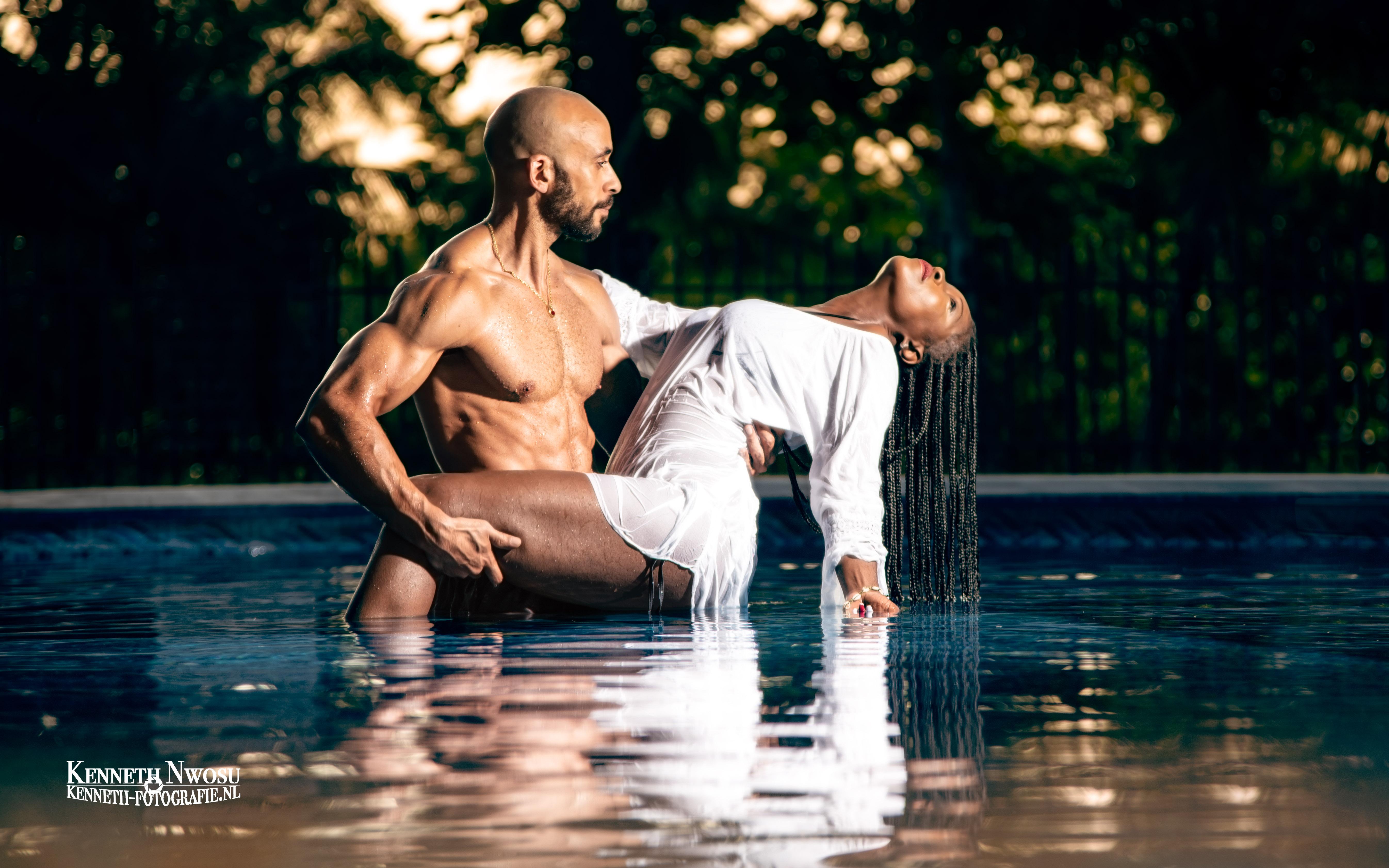 Zwembad fotoshoot Suriname