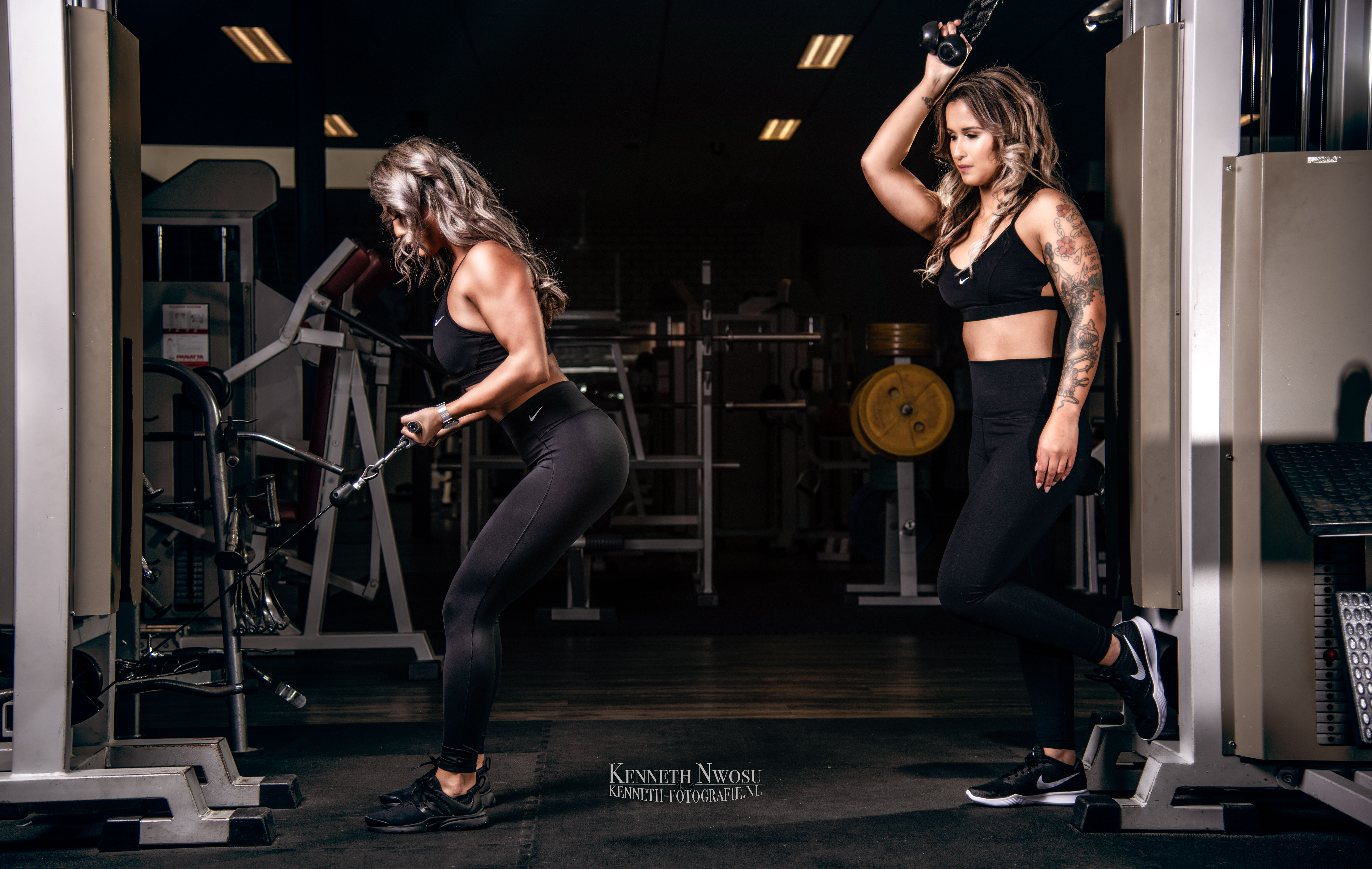 Fitness fotoshoot met Desiree en Amberley