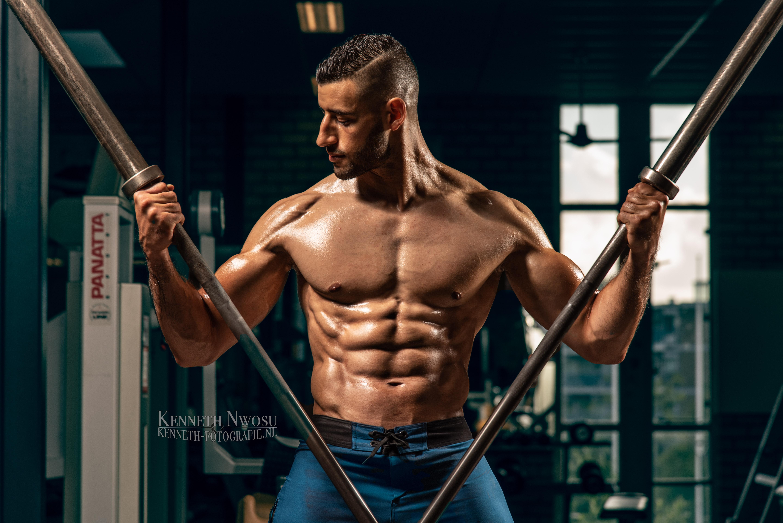 Fitness foto- en videoshoot met Yassine
