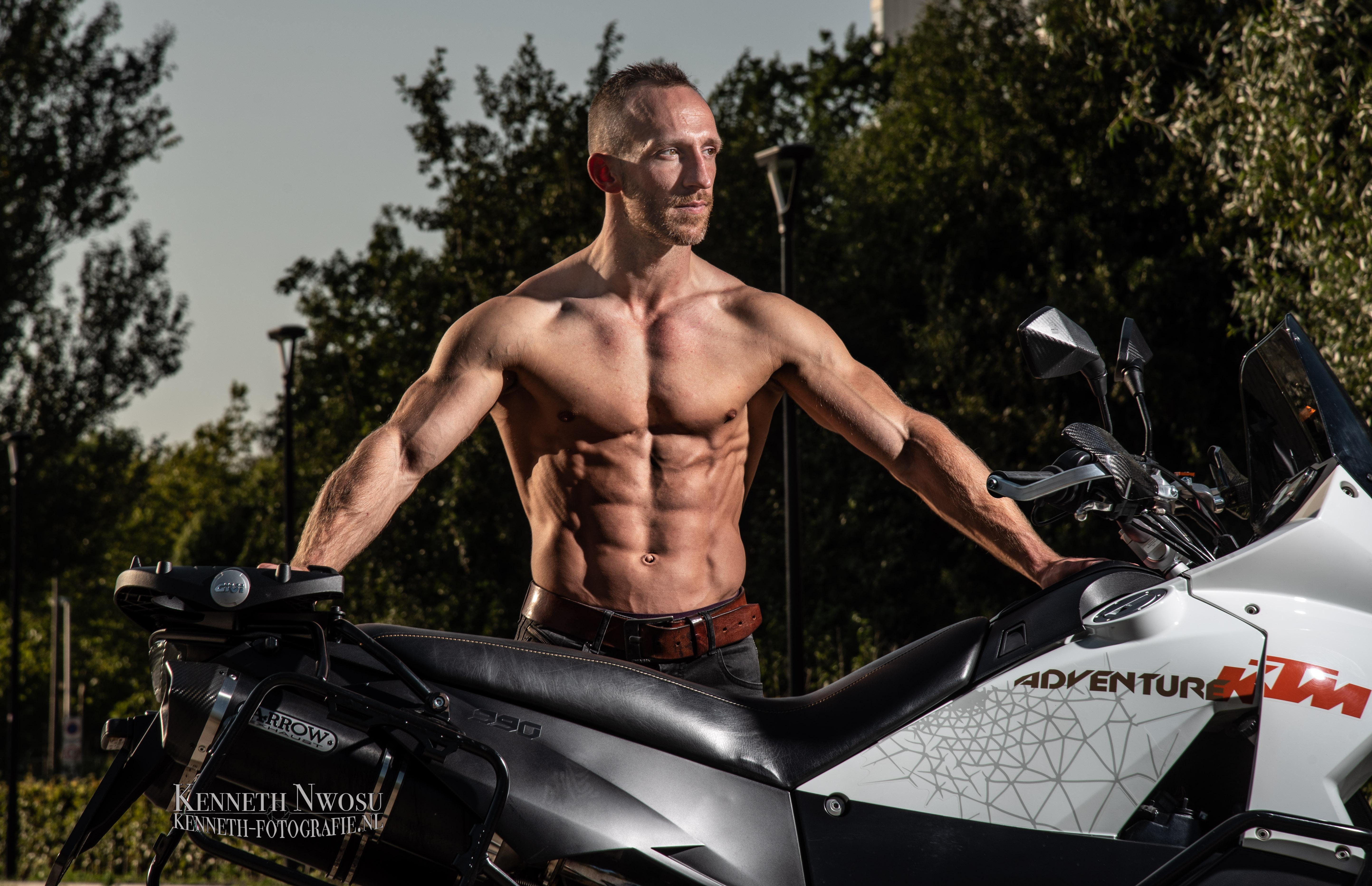 Fitness en motor shoot met Robert