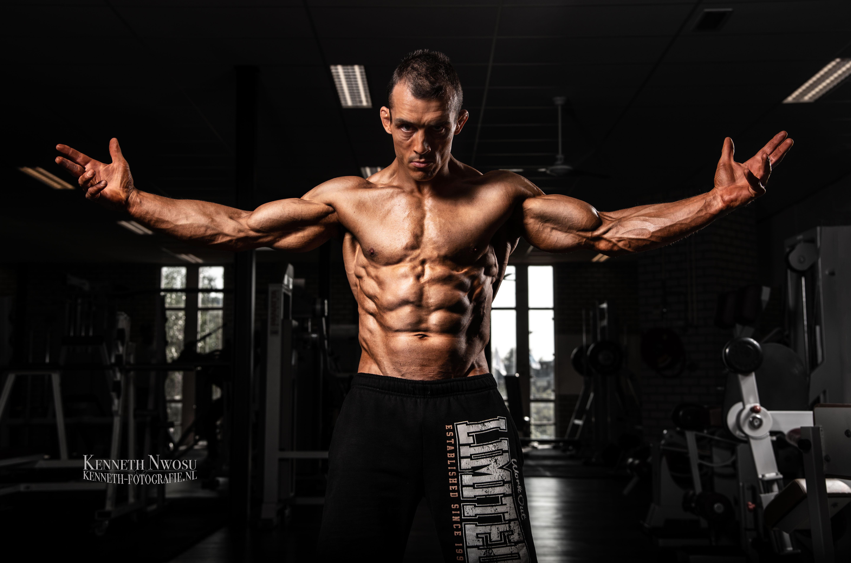 Bodybuilding fotoshoot met Paul en Brent