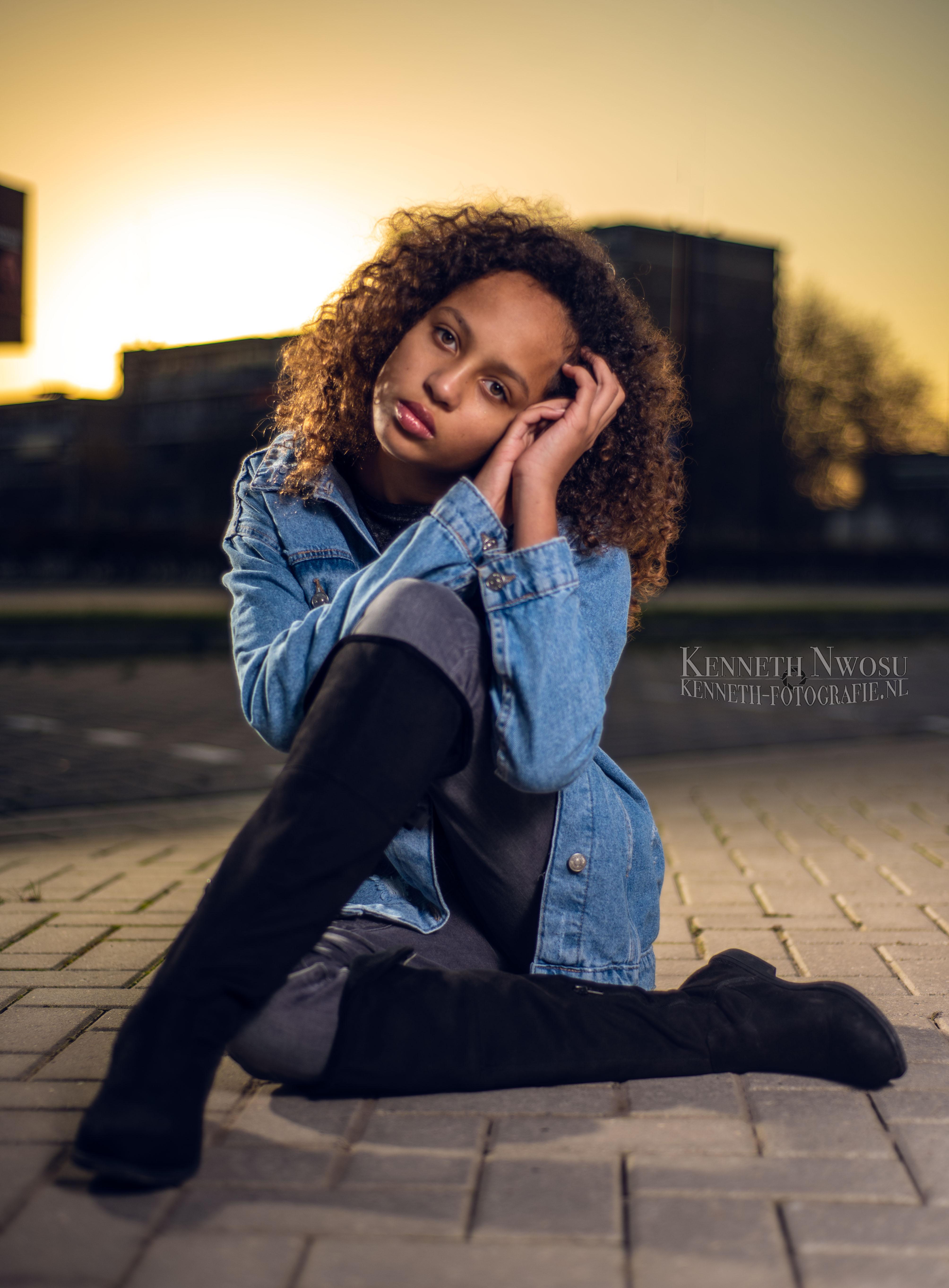 Sunset en studio shoot met Danaé
