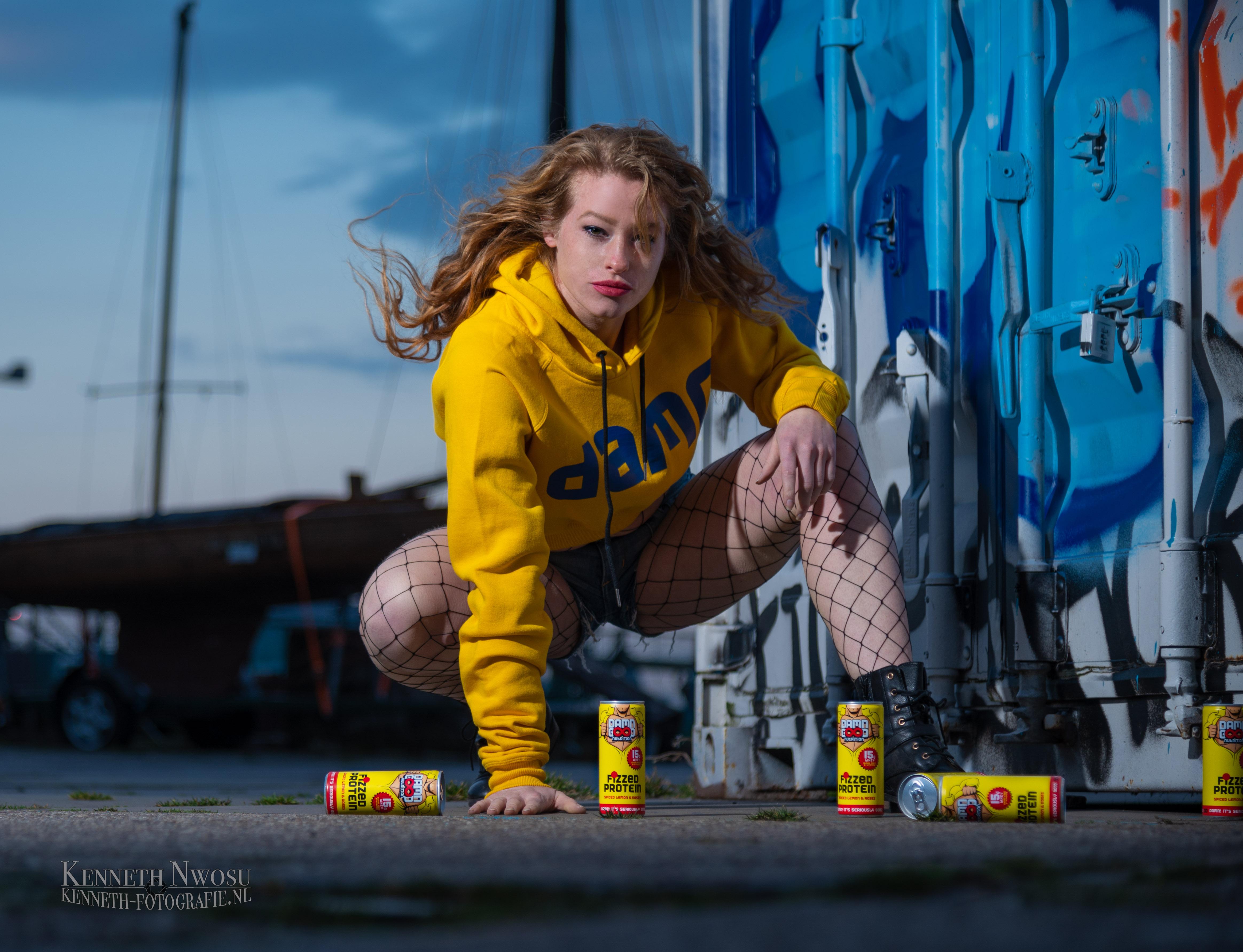 Fotoshoot met Roza voor Damn Good Nutrition